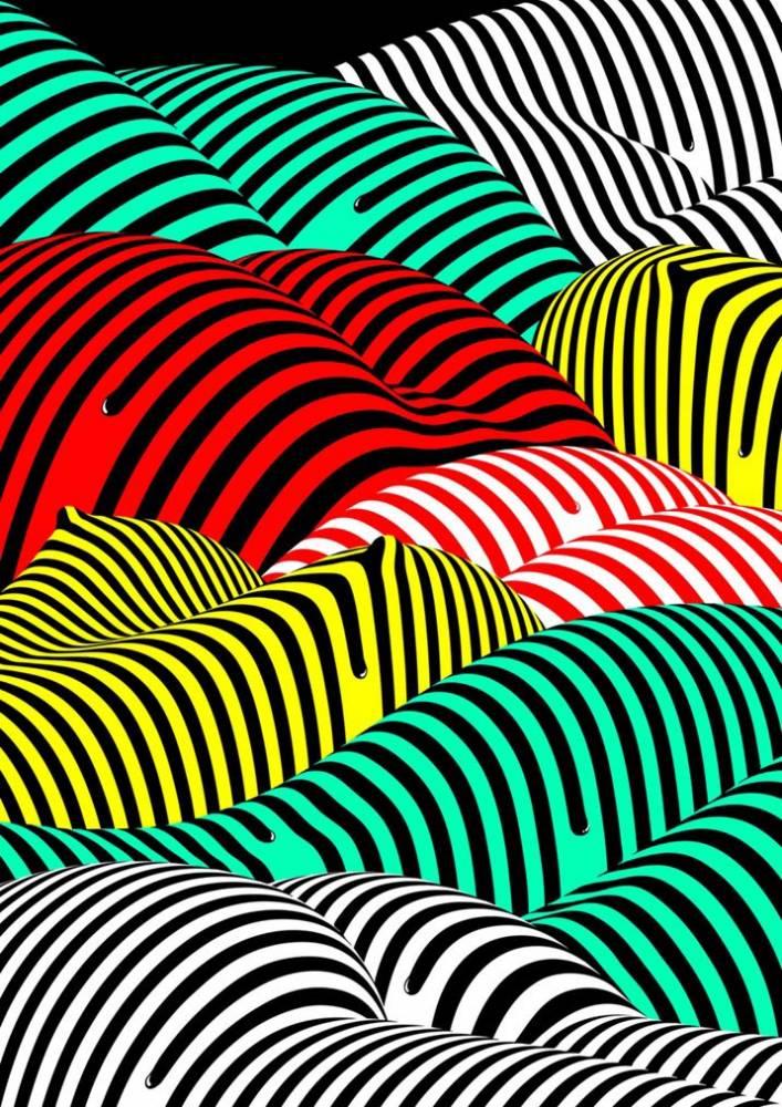 Plakat Timo Lenzen Striped Hills