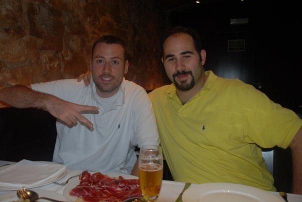 Davide mit Many Ameri, einem der Gründer der RBMA