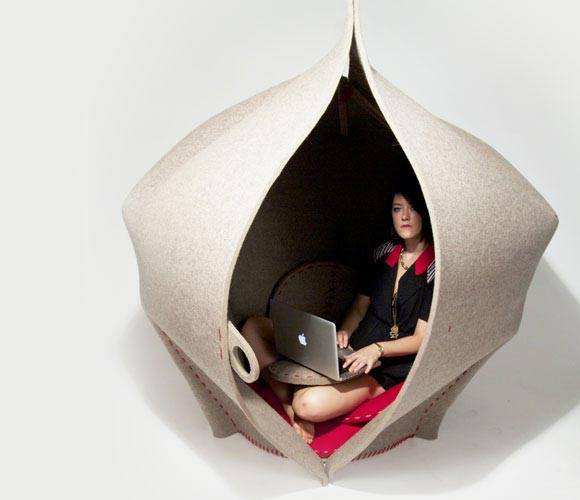 Womb-like Hush Seating by Freyja Sewell